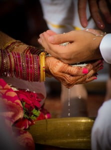 Candid Indian Wedding - Hands of Bride and Groom
